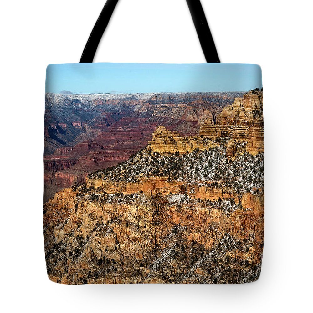 Grand Canyon Tote Bag featuring the photograph A Canyon Winter by Susan Warren
