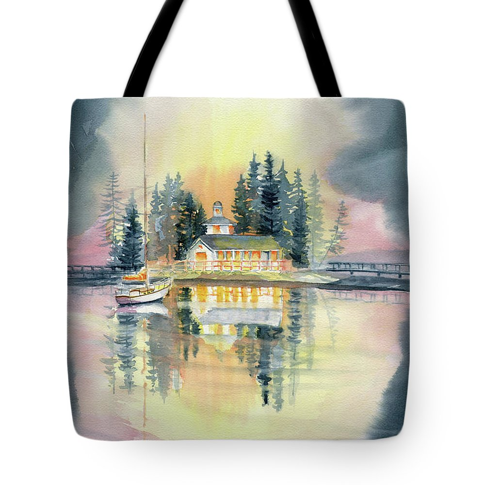 A Certain Light Tote Bag featuring the painting A Certain Light by Melly Terpening