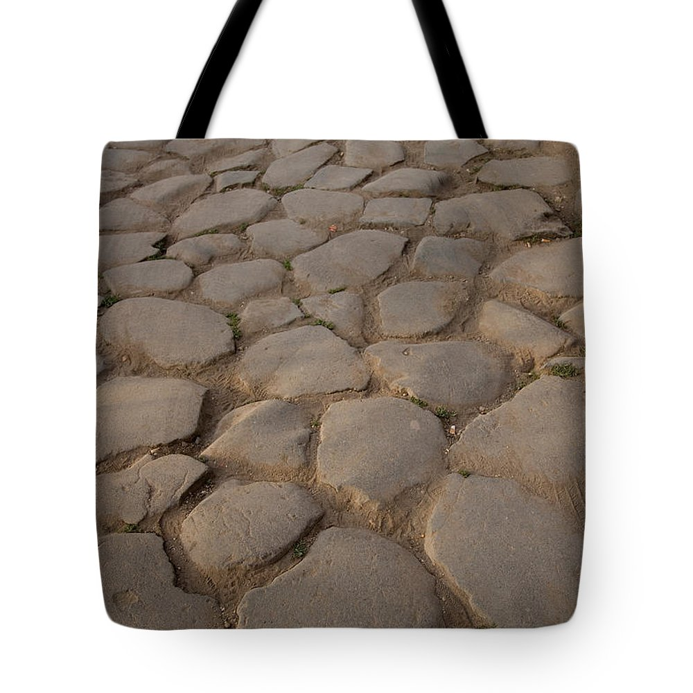 Photography Tote Bag featuring the photograph A Cobblestone Road In Rome by Joel Sartore