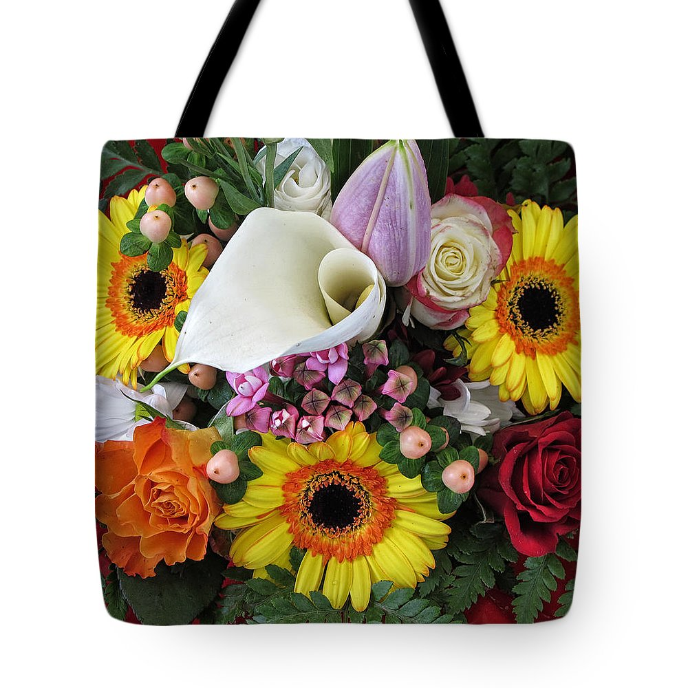 Bouquet Tote Bag featuring the photograph A Colorful Bouquet by Dave Mills