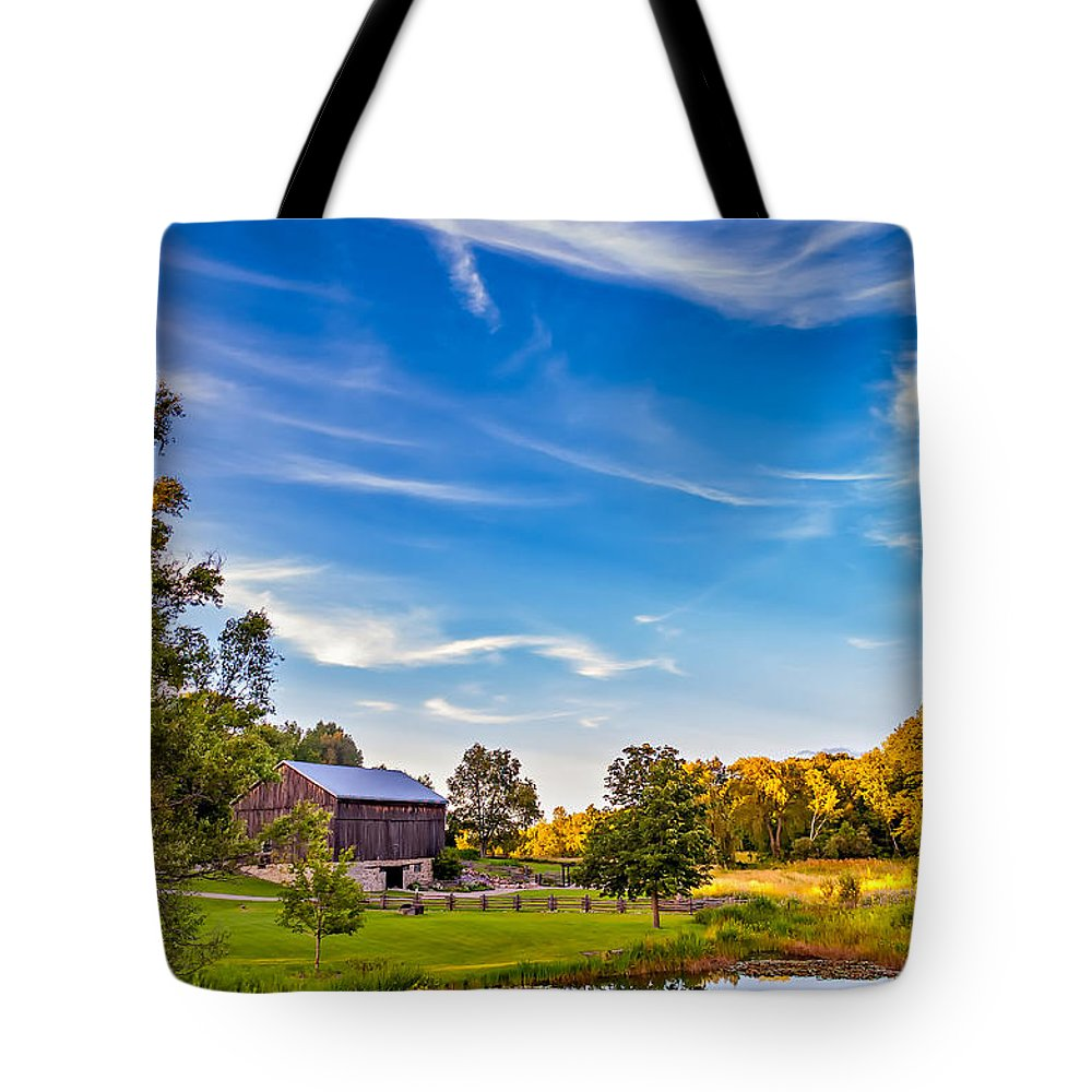 Pond Tote Bag featuring the photograph A Country Place 3 by Steve Harrington