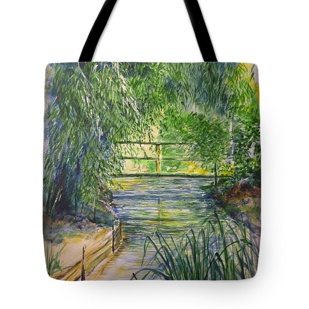 Giverny Tote Bag featuring the painting A Day At Giverny by Lizzy Forrester