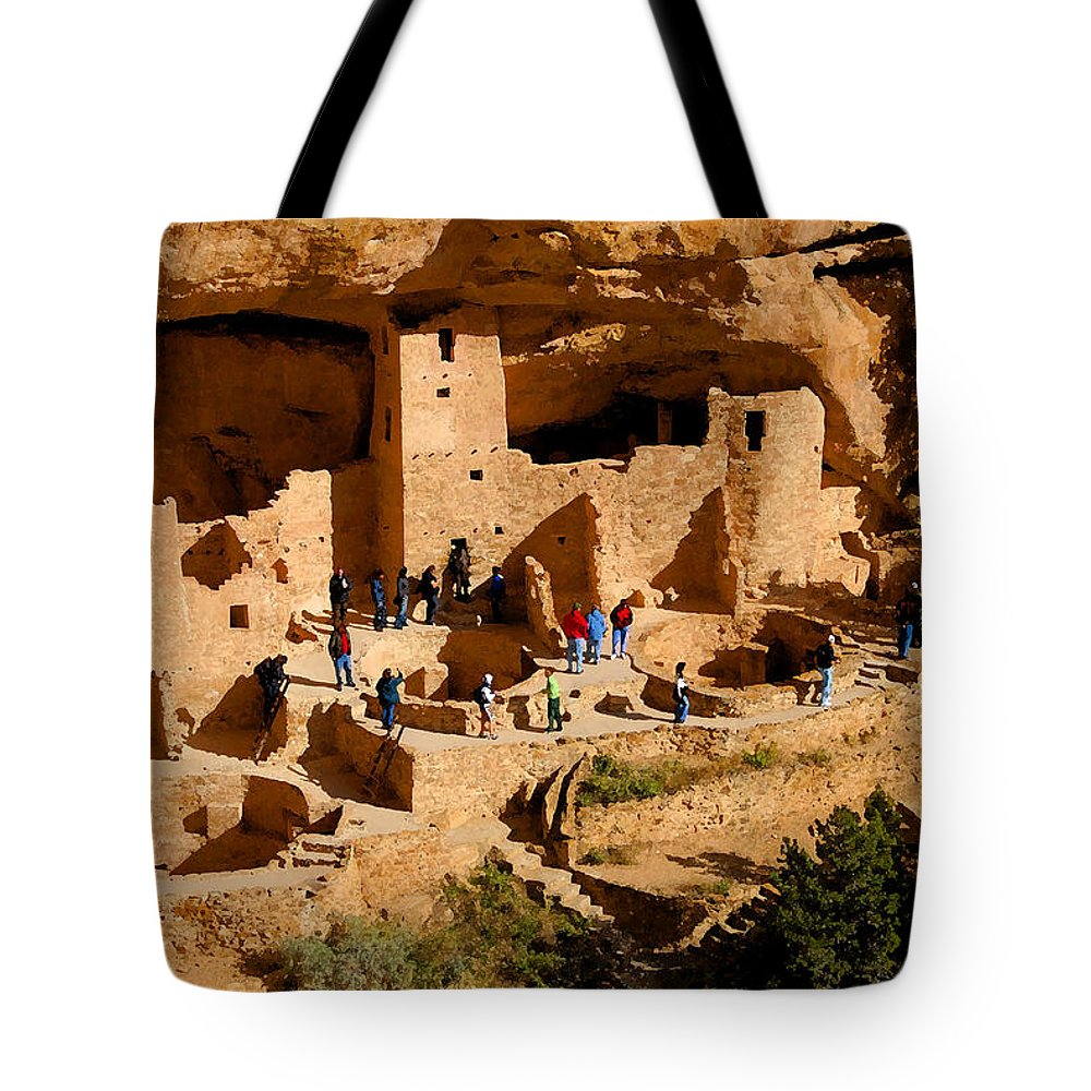 Art Tote Bag featuring the painting A Day At Mesa Verde by David Lee Thompson