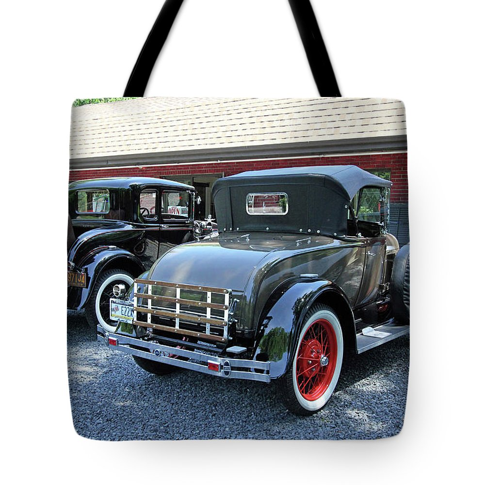 Cars Tote Bag featuring the photograph A Day At The Antique Store by Trina Ansel