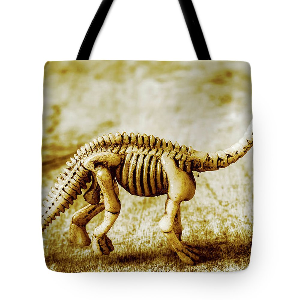 Bone Tote Bag featuring the photograph A Diploducus Bone Display by Jorgo Photography - Wall Art Gallery