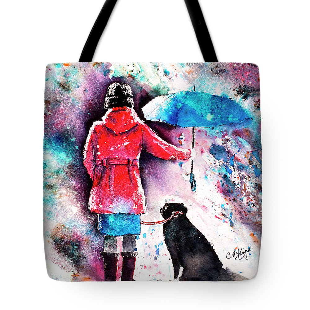 Dog Tote Bag featuring the painting A Dog's Best Friend by Carrie McKenzie