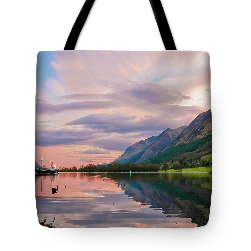 Scotland Tote Bag featuring the photograph A Dreams Reflection by Martina Schneeberg-Chrisien