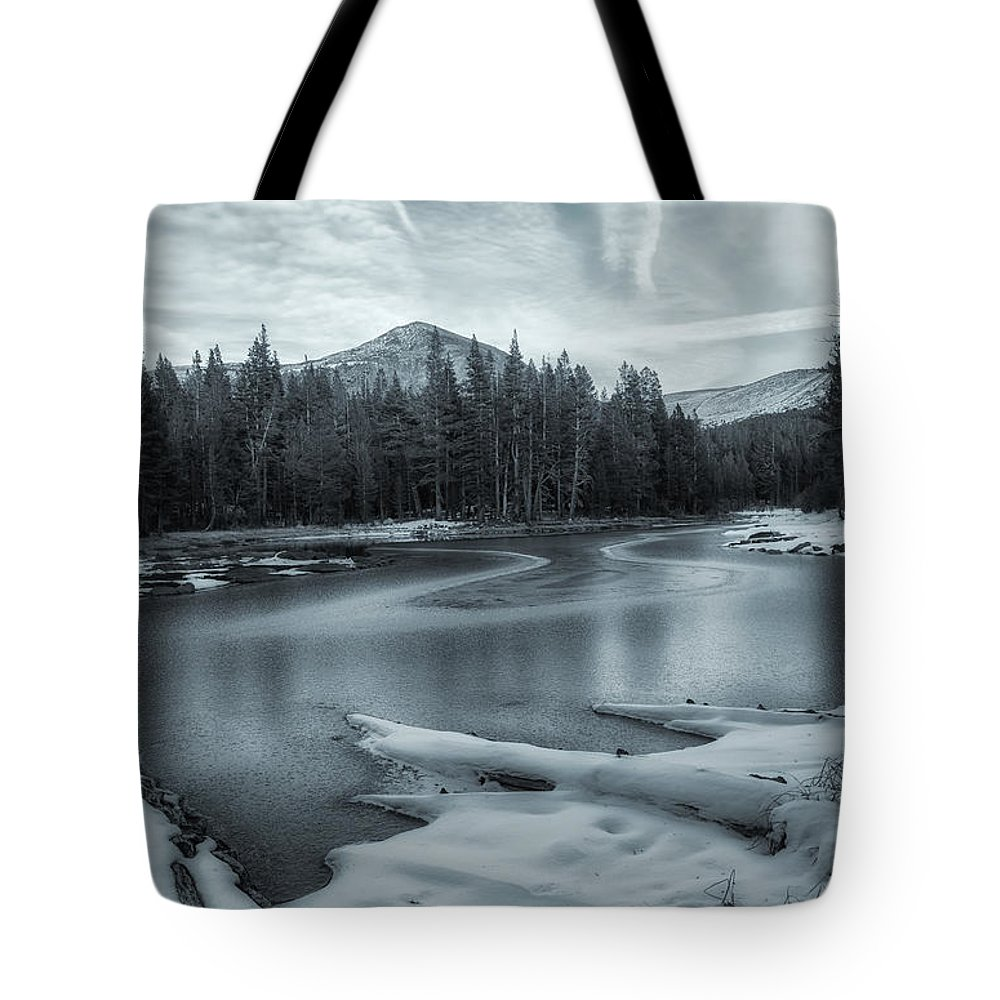 Landscape Tote Bag featuring the photograph A Dry Winter 2 by Jonathan Nguyen