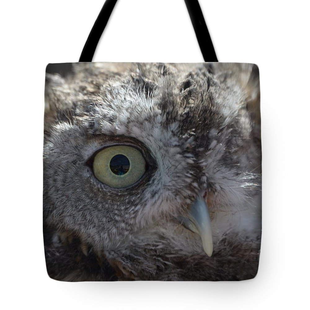 Rescue Tote Bag featuring the photograph A Eye On You by Jodie Sims