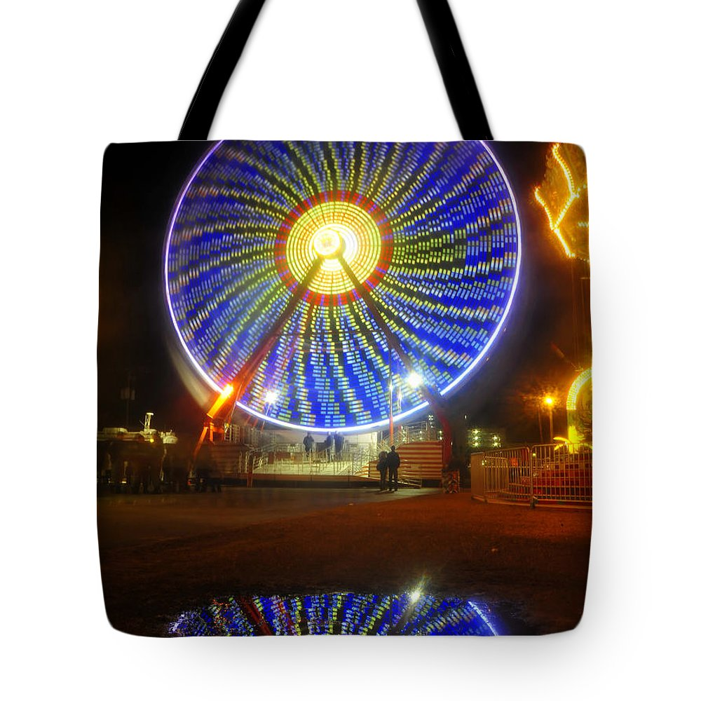 Florida State Fair Tote Bag featuring the photograph A Fair Reflection by David Lee Thompson