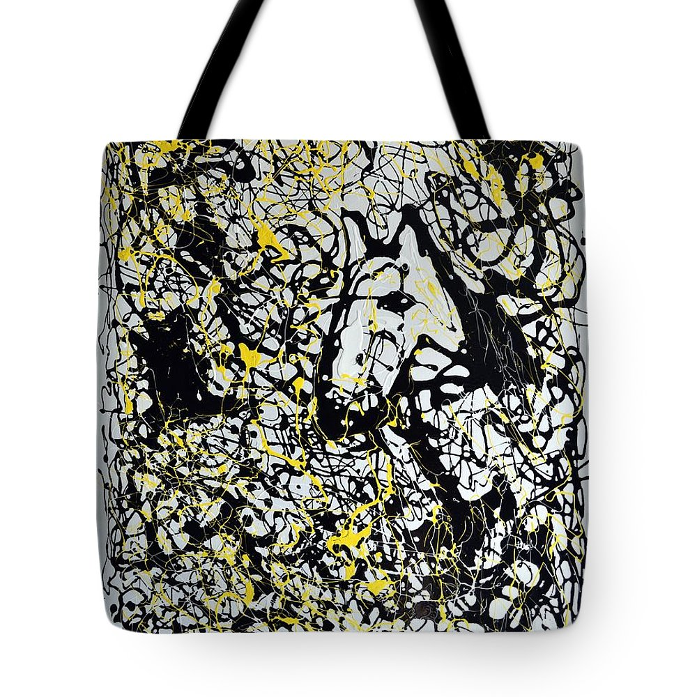Abstract Tote Bag featuring the painting A Friendly Face by J R Seymour