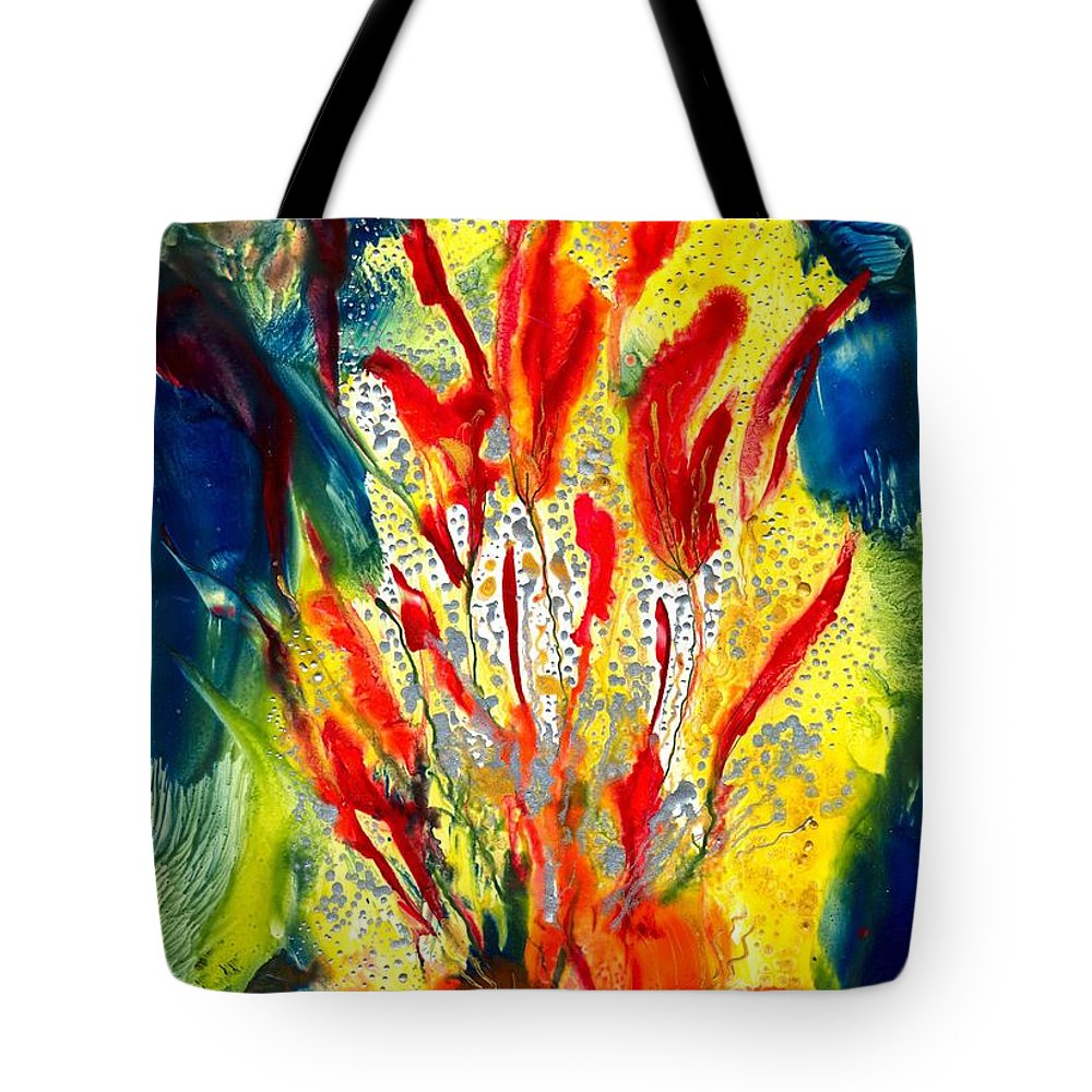 Healing Tote Bag featuring the painting A Gateway To Americo Healing by Heather Hennick
