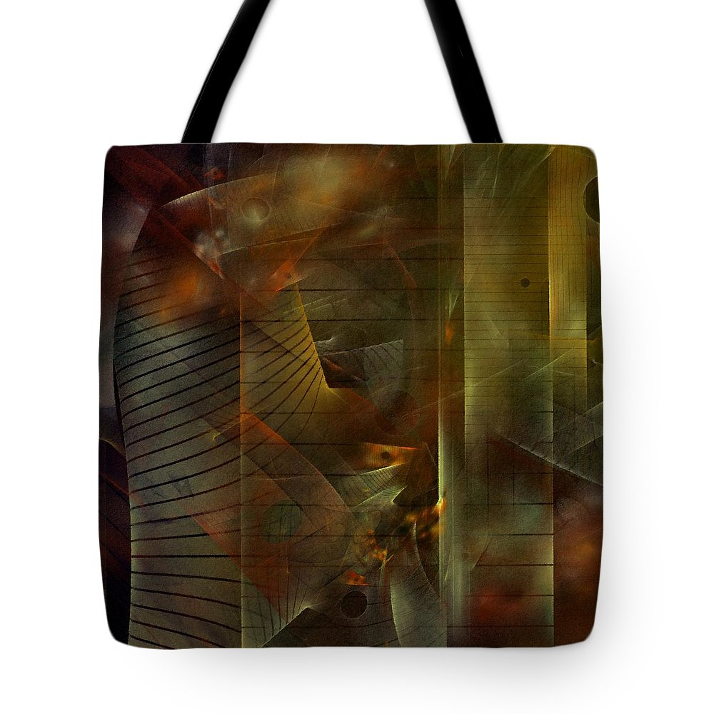 Graffiti Tote Bag featuring the digital art A Ghost In The Machine by NirvanaBlues