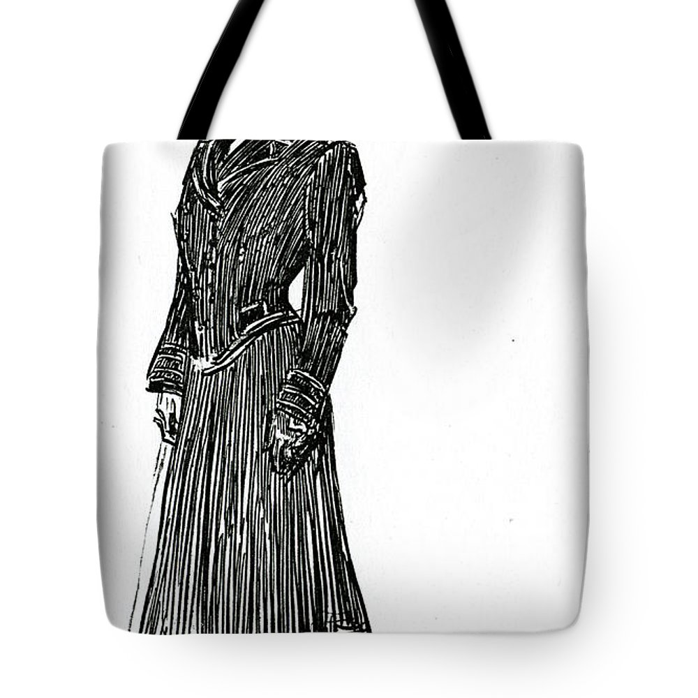 Old Style Drawings Tote Bags