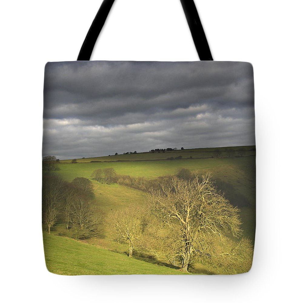 Glimpse Tote Bag featuring the photograph A Glimpse Of Sun by Hazy Apple