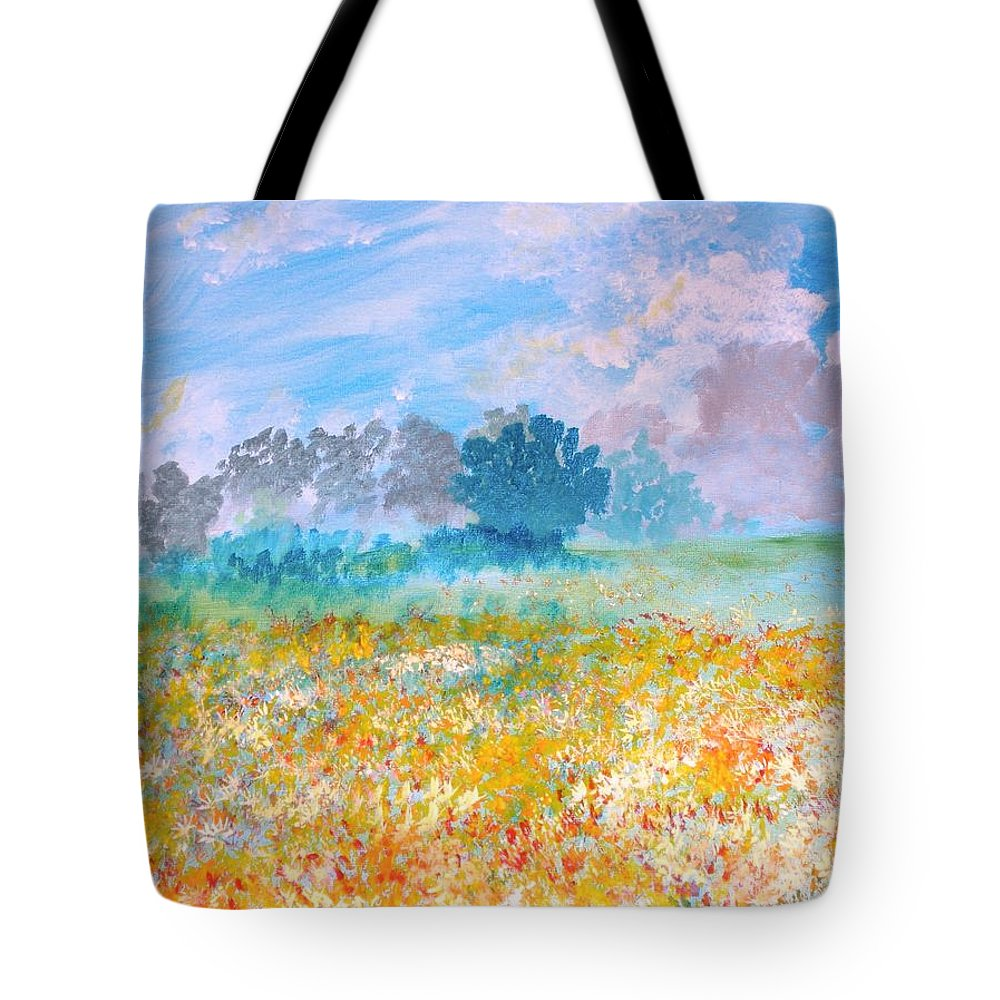 New Artist Tote Bag featuring the painting A Golden Afternoon by J Bauer