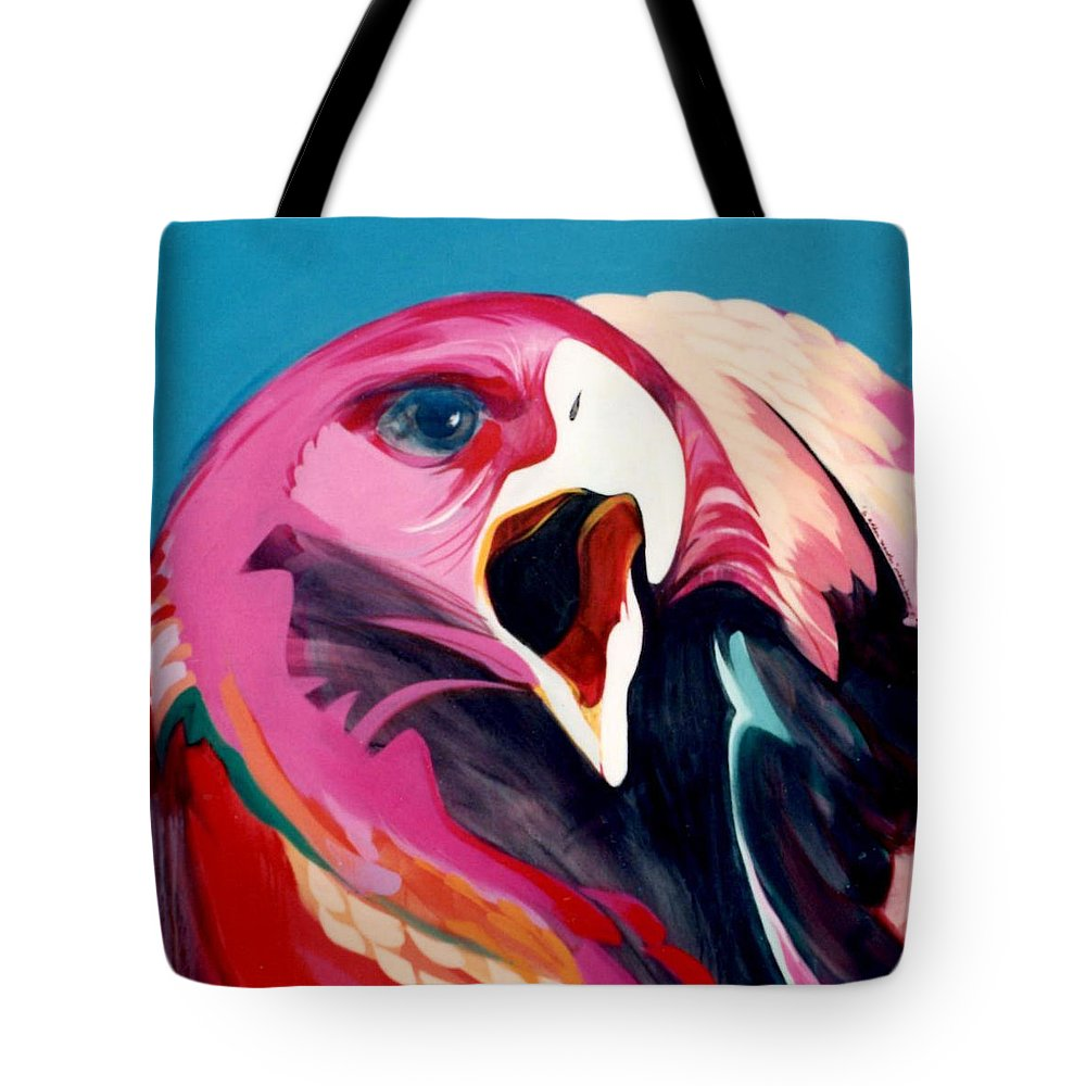 Raptor Tote Bag featuring the painting A Golden Mantles by Marlene Burns