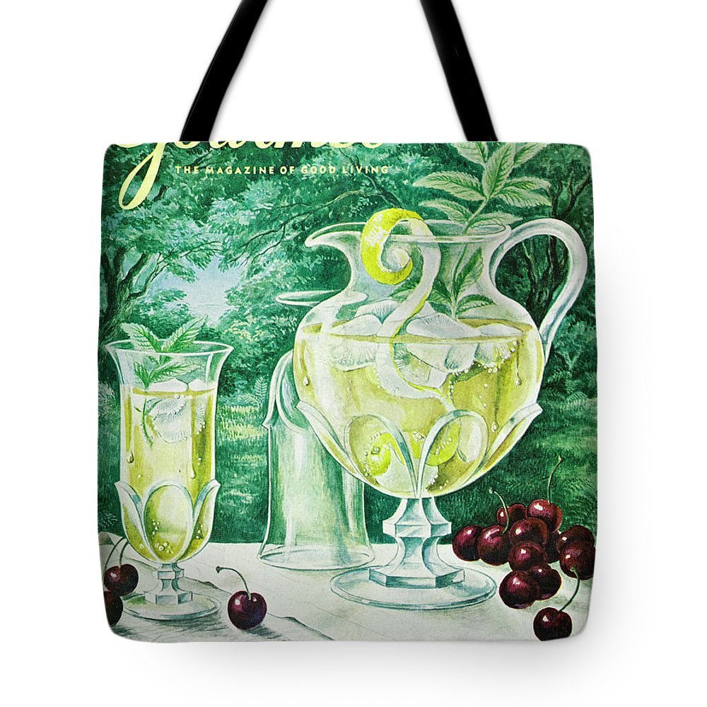 Food Tote Bag featuring the photograph A Gourmet Cover Of Glassware by Hilary Knight
