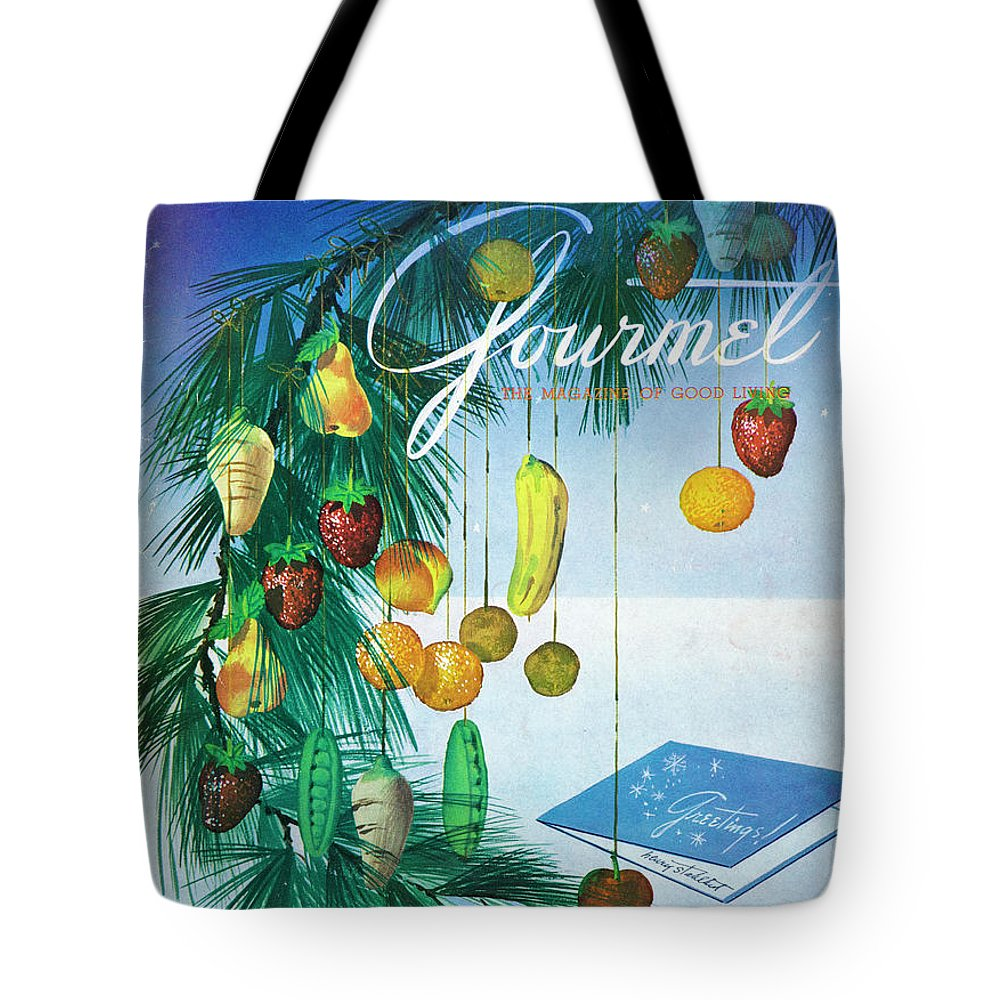 Food Tote Bag featuring the photograph A Gourmet Cover Of Marzipan Fruit by Henry Stahlhut