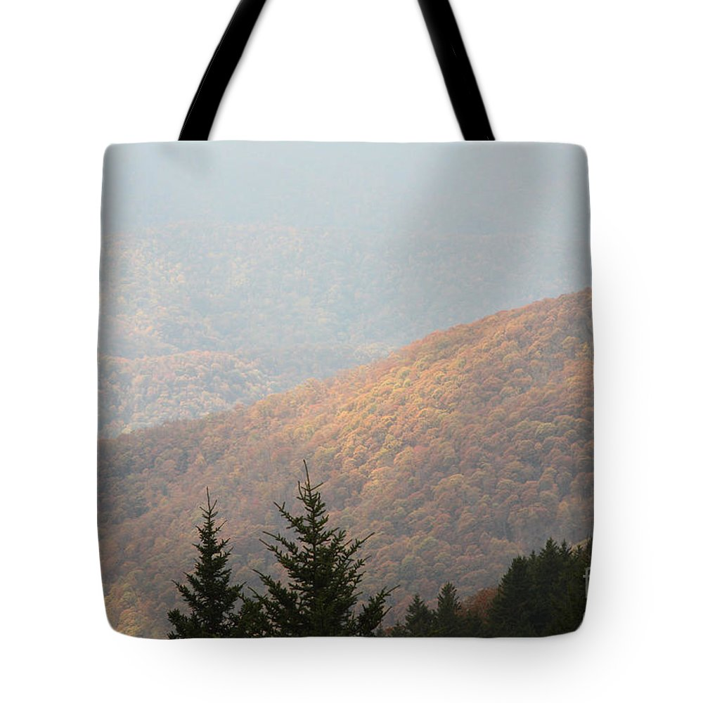 Photographs Tote Bag featuring the photograph A Hazy Autumn Day by Felix Lai