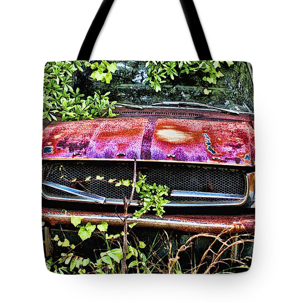 Ford Tote Bag featuring the digital art A Hidden Mustang by Tommy Anderson