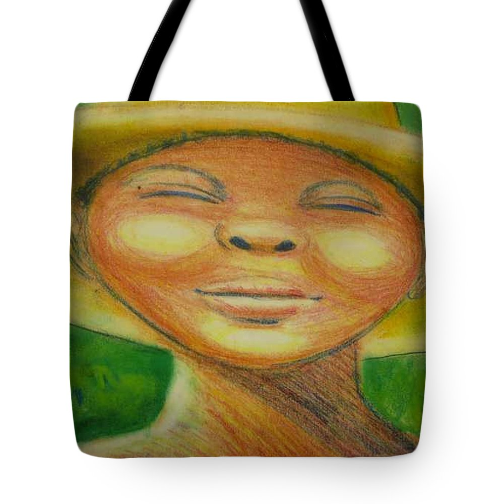 Drawing Tote Bag featuring the drawing A Hot Summer Day by Jan Gilmore