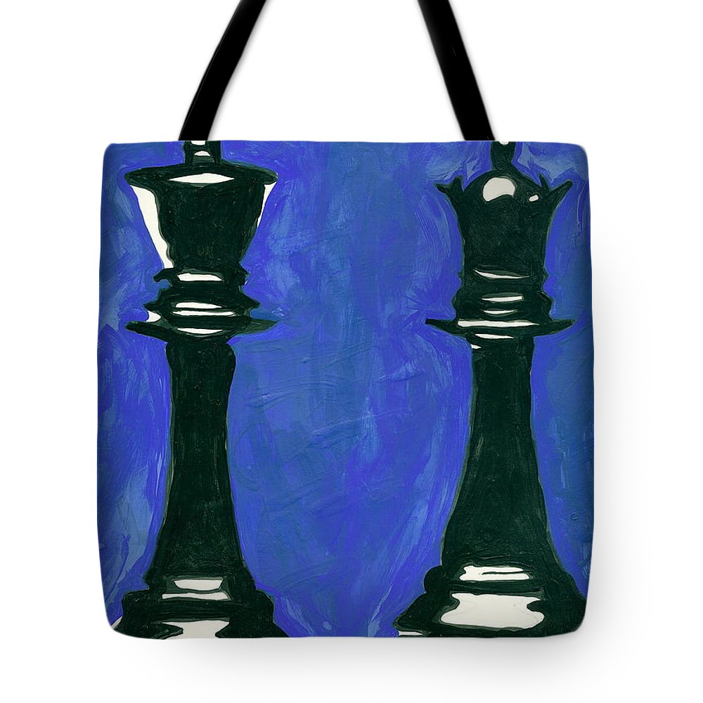 King Tote Bag featuring the painting A King And Queen by JJ Burner