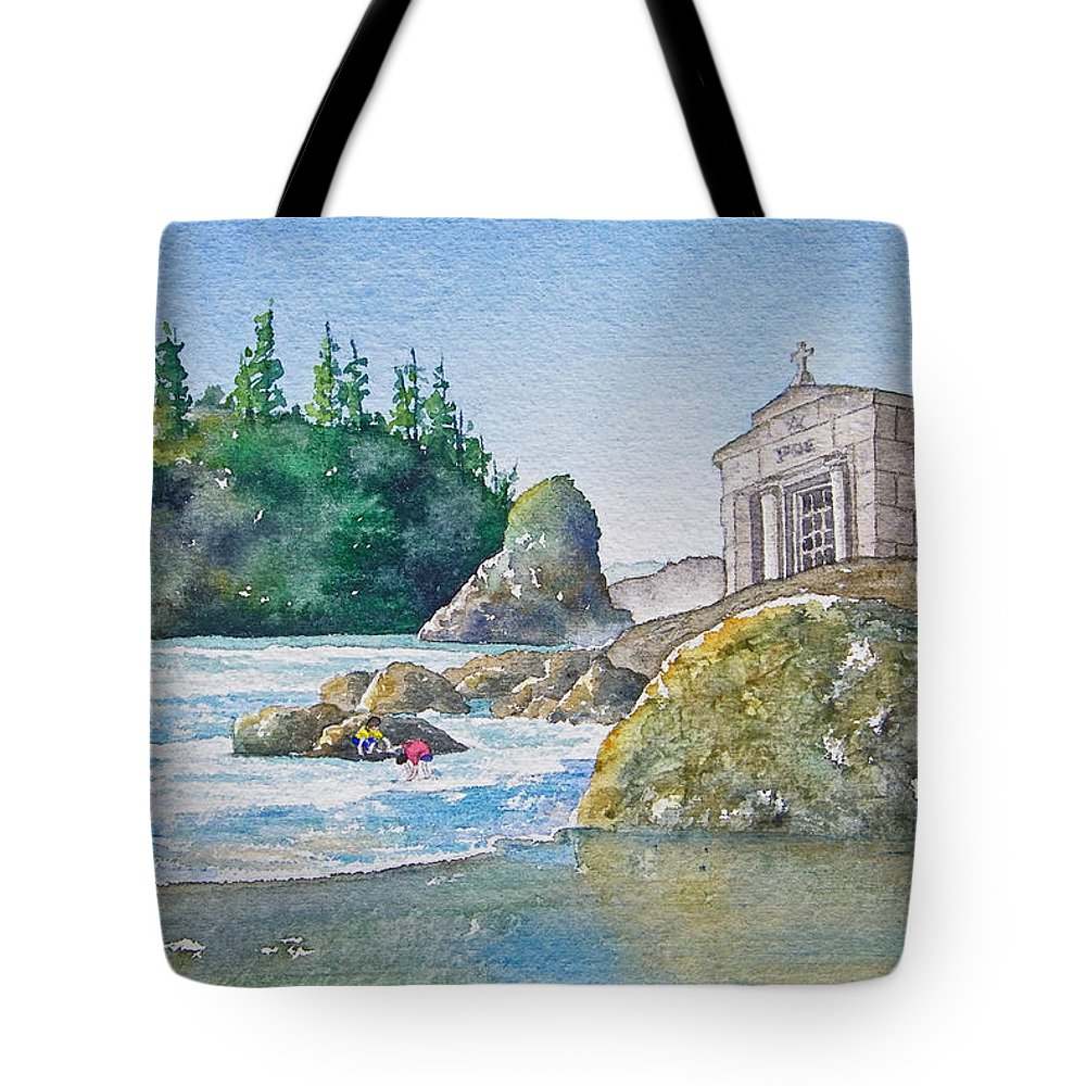 Ocean Tote Bag featuring the painting A Kingdom By The Sea by Gale Cochran-Smith