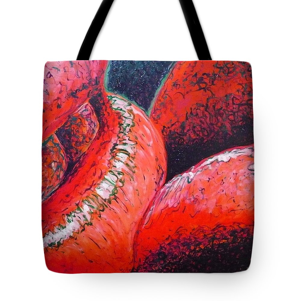 Kiss Tote Bag featuring the painting A Kiss by Ericka Herazo