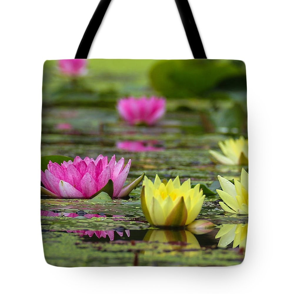 Monet Tote Bag featuring the pyrography a la Monet by Peteris Vaivars