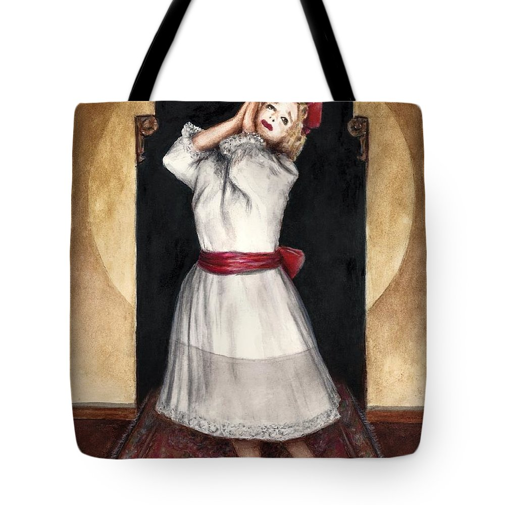 Baby Jane Bette Davis Bruce Lennon Art Illustration Tote Bag featuring the painting A Letter To Daddy by Bruce Lennon