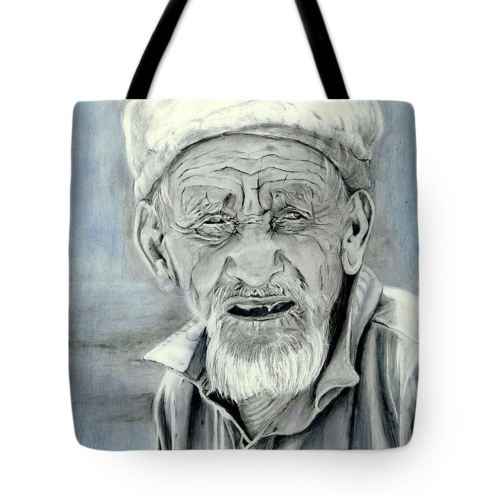 Figurative Art Tote Bag featuring the painting A Life Time by Portraits By NC
