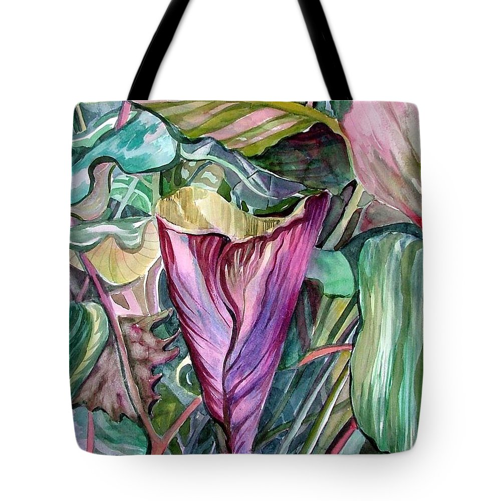 Garden Tote Bag featuring the painting A Light In The Garden by Mindy Newman