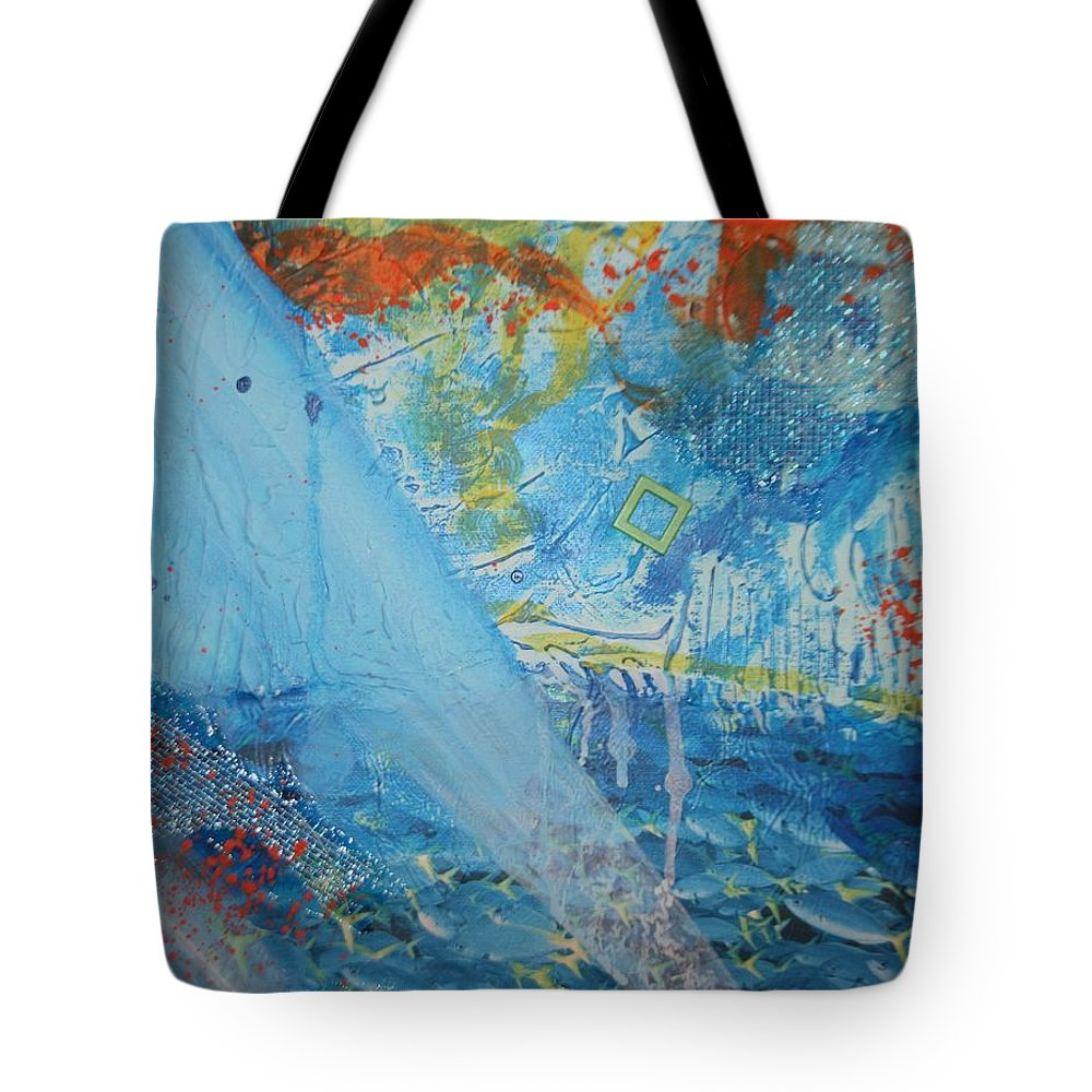 Paper Tote Bag featuring the painting A Light Shines Down by Betty-Anne McDonald