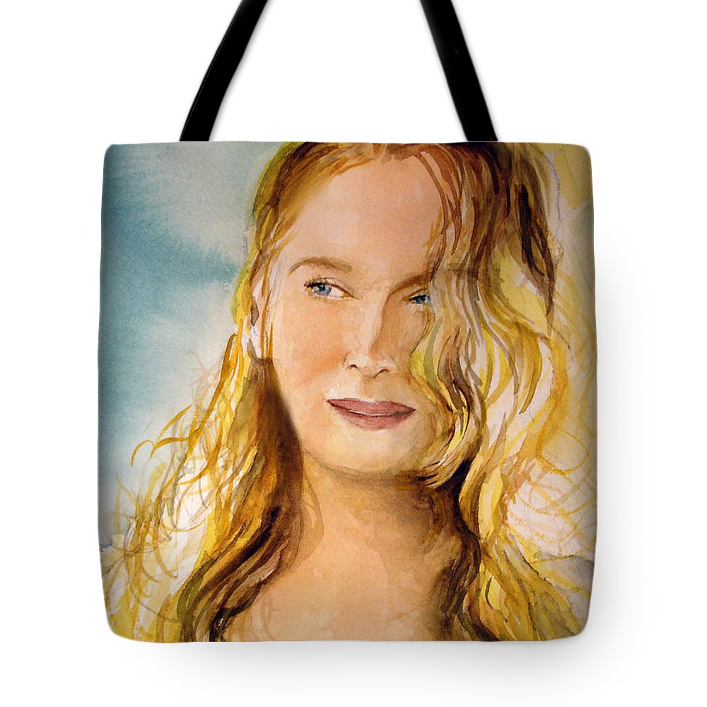 Meryl Streep Tote Bag featuring the painting A Little Bit Of Meryl by Allison Ashton
