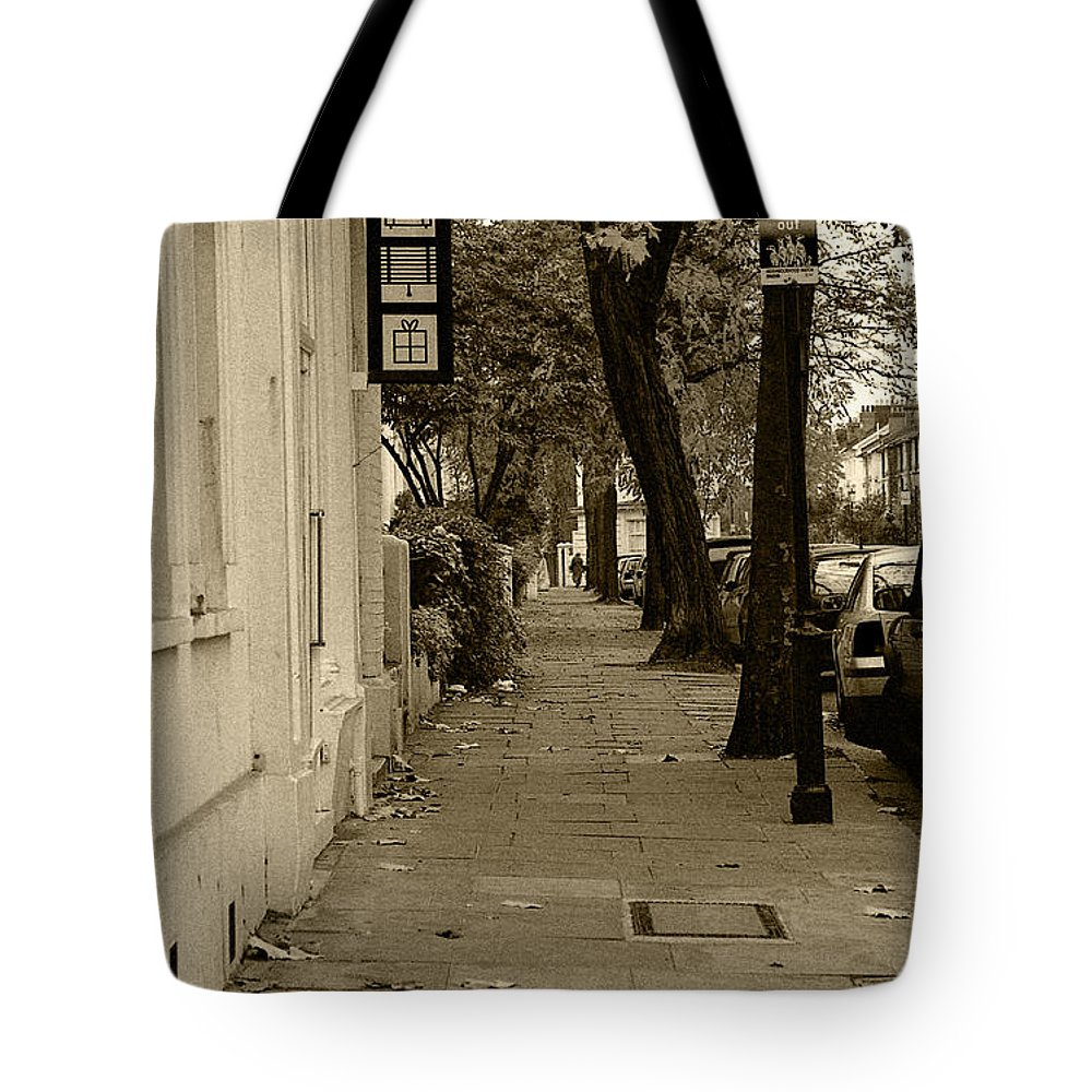 London Tote Bag featuring the photograph A London Street I by Ayesha Lakes