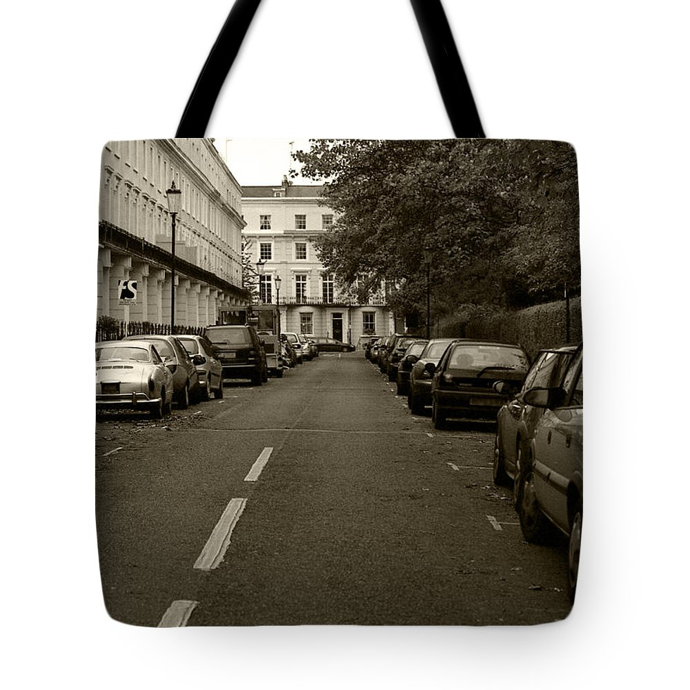 Travel Tote Bag featuring the photograph A London Street II by Ayesha Lakes
