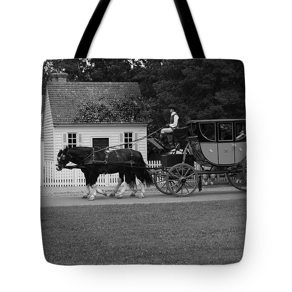 Horses Tote Bag featuring the photograph A Look Back by Eric Liller