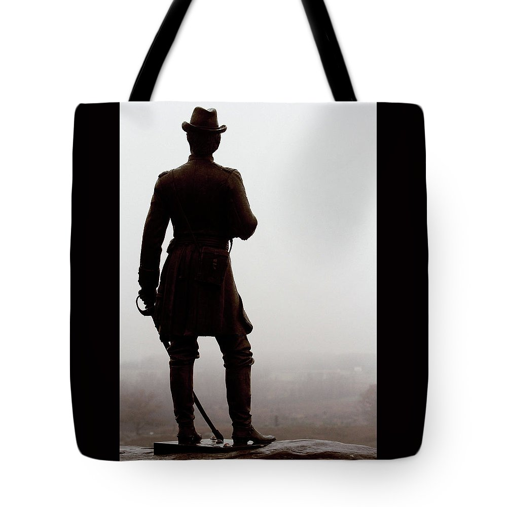 Civil War Tote Bag featuring the photograph A Look Over Little Round Top by Susie Gordon