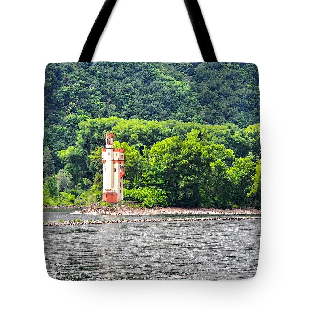 Medieval Building Tote Bag featuring the photograph A Medieval Castle on the Rhine by Kirsten Giving