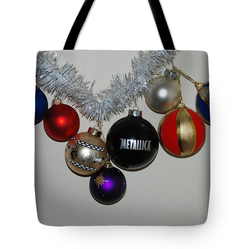 Xmas Tote Bag featuring the photograph A Metallica Xmas by Rob Hans