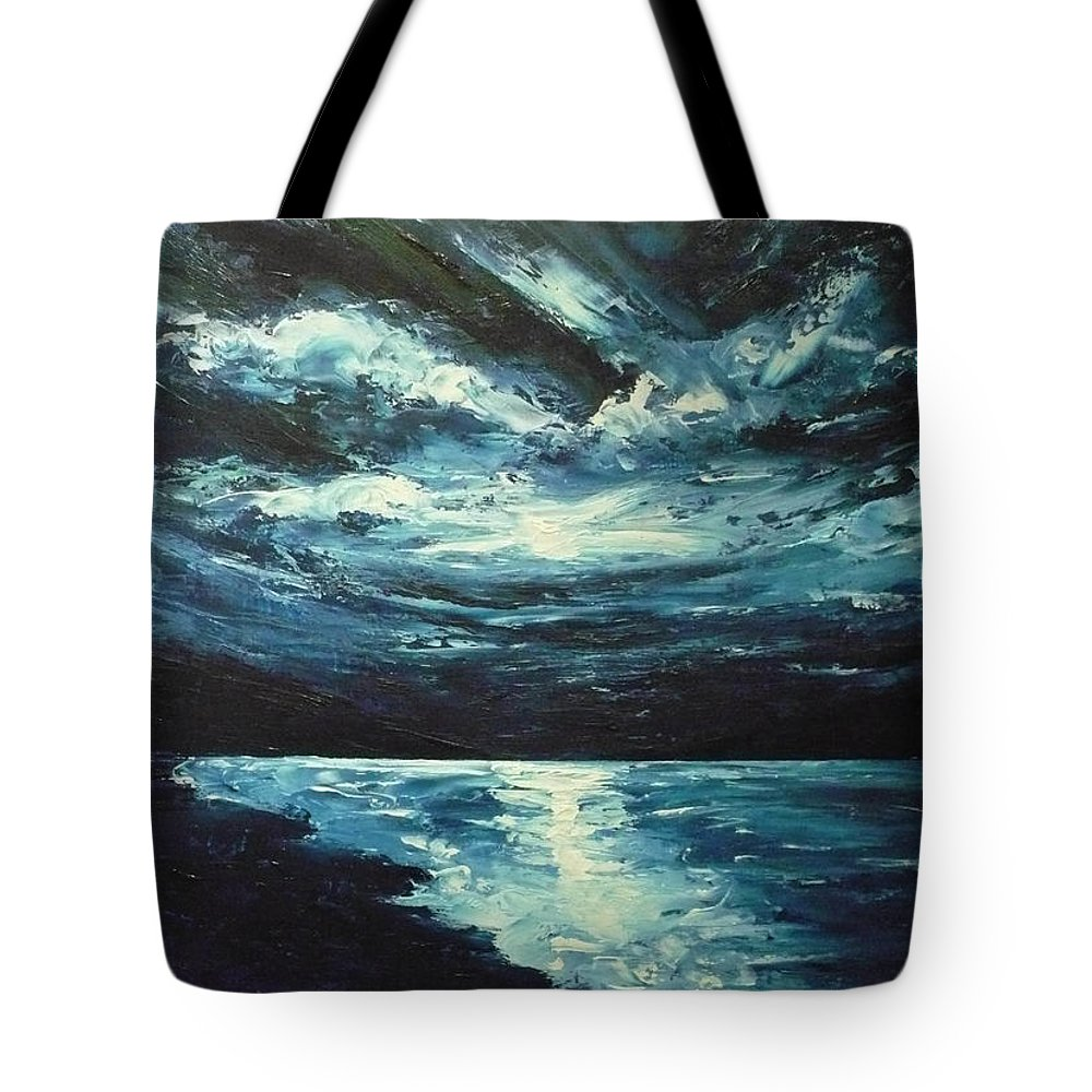 Landscape Tote Bag featuring the painting A Milky Way by Ericka Herazo