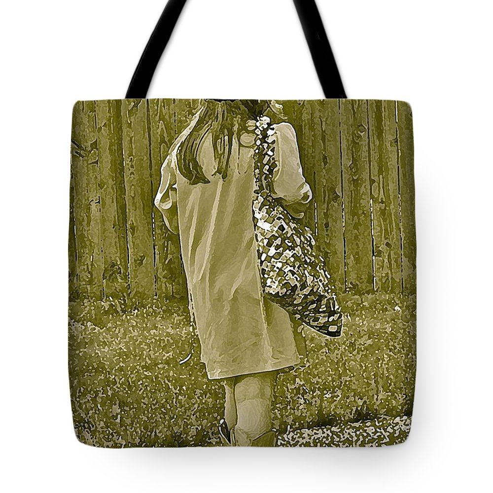 Little Girl Tote Bag featuring the photograph A Moment by Gwyn Newcombe