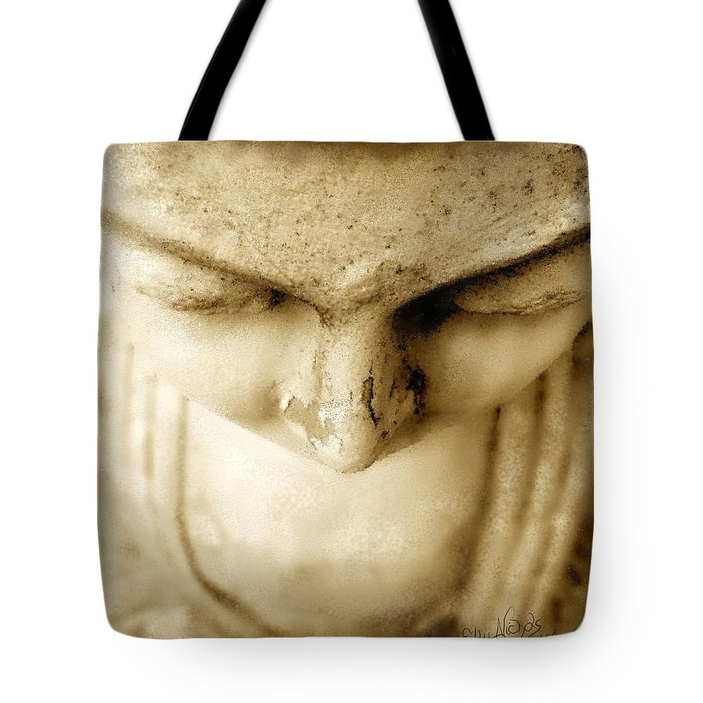 Mother Tote Bag featuring the digital art A Mother's Loss by Ellen Dawson