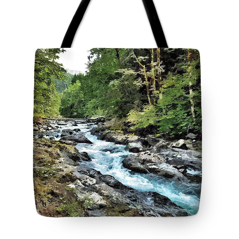 River Tote Bag featuring the photograph A Mountain River 2 by John Trommer