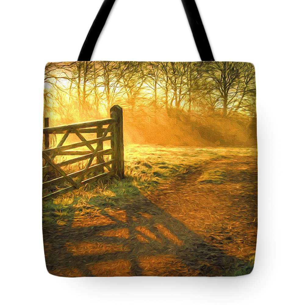 Art Tote Bag featuring the painting A New Day by Veikko Suikkanen