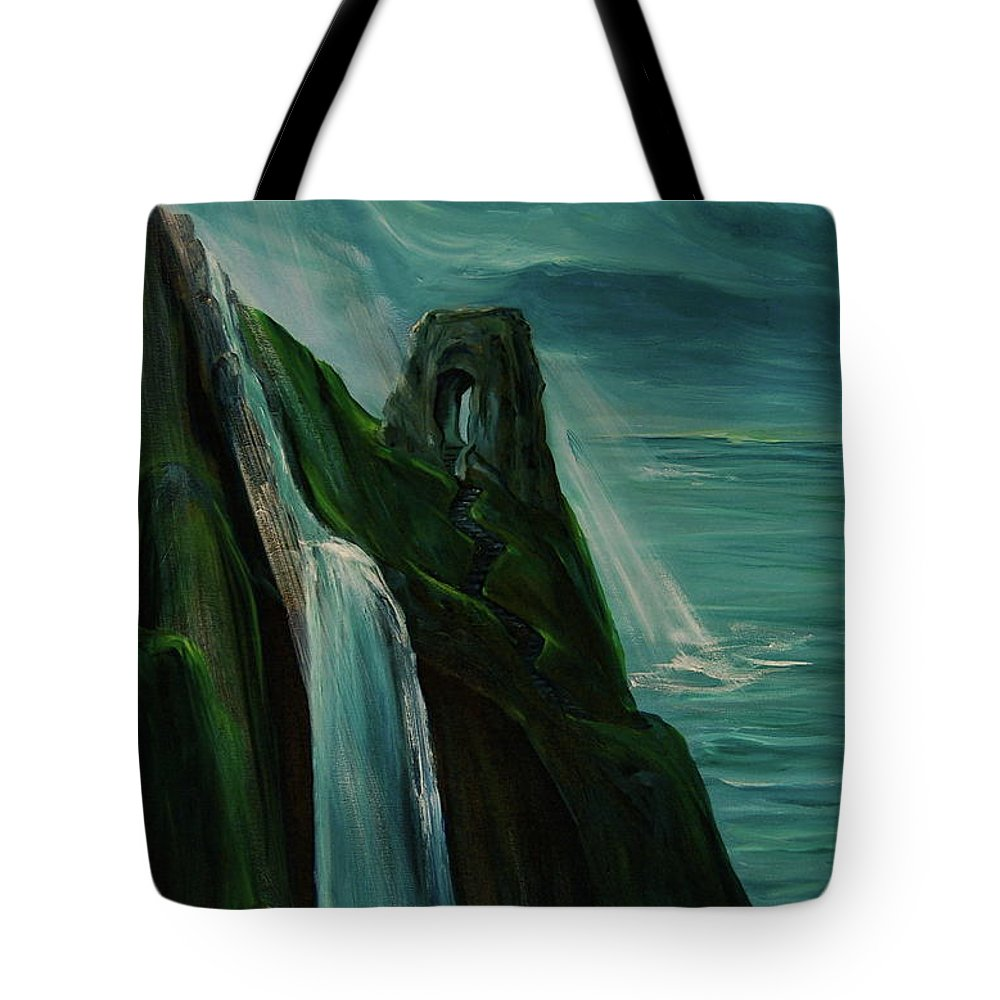 England Tote Bag featuring the painting A New Light On The Norman Ruins by Jennifer Christenson