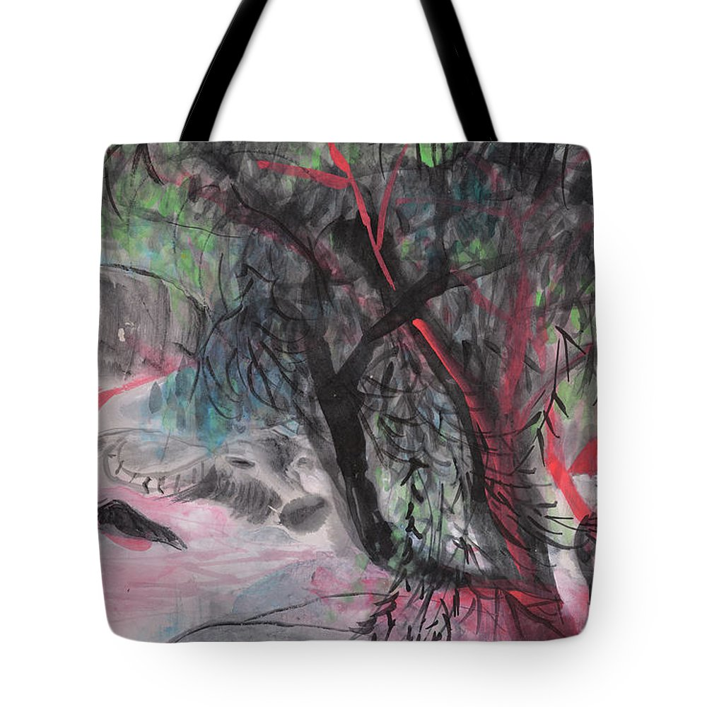Willow Tote Bag featuring the painting A Nice Day by Chinaart Find
