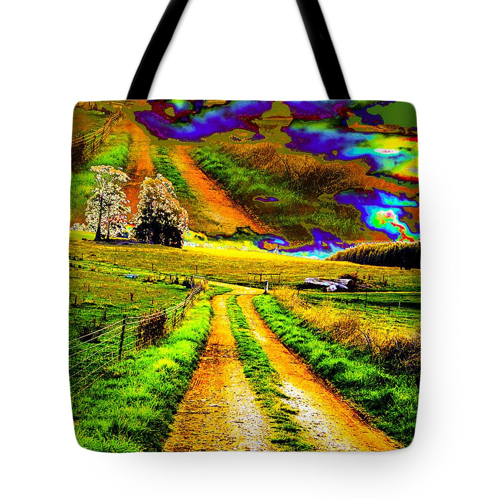 Landscape Tote Bag featuring the photograph A Passage Of Time by Sarah King