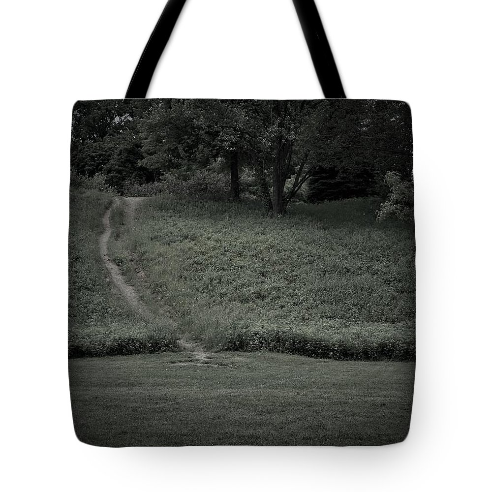 Road Tote Bag featuring the photograph A Path Traveled by Michael Dorr-benham